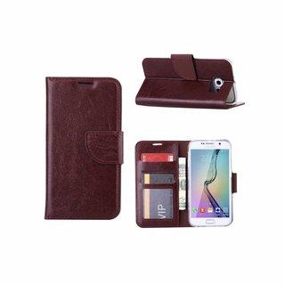 Bookcase Samsung Galaxy S6 hoesje - Bruin