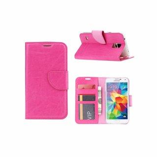Bookcase Samsung Galaxy S5 hoesje - Roze