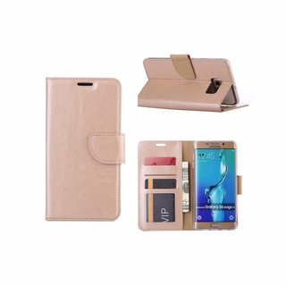 Bookcase Samsung Galaxy S6 Edge Plus hoesje - Goud