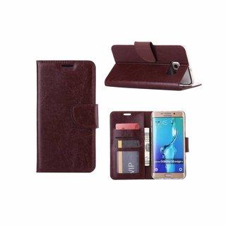 Bookcase Samsung Galaxy S6 Edge Plus hoesje - Bruin