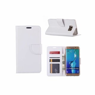 Bookcase Samsung Galaxy S6 Edge Plus hoesje - Wit