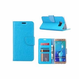 Bookcase Samsung Galaxy S6 Edge Plus hoesje - Blauw