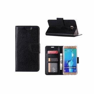 Bookcase Samsung Galaxy S6 Edge Plus hoesje - Zwart