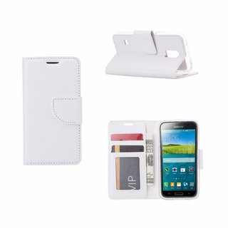 Bookcase Samsung Galaxy S5 Mini hoesje - Wit