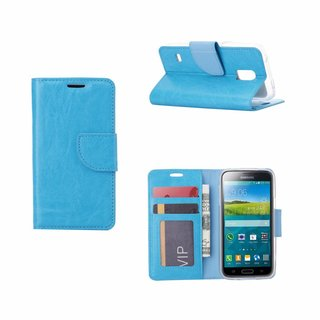 Bookcase Samsung Galaxy S5 Mini hoesje - Blauw