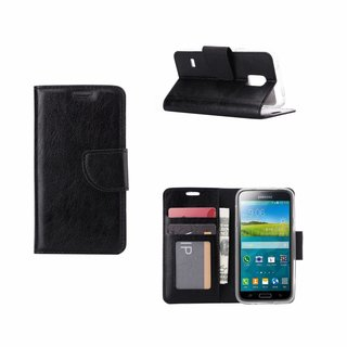 Bookcase Samsung Galaxy S5 Mini hoesje - Zwart