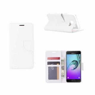 Luxe Lederen Bookcase hoesje voor de Samsung Galaxy A3 (2016) - Wit
