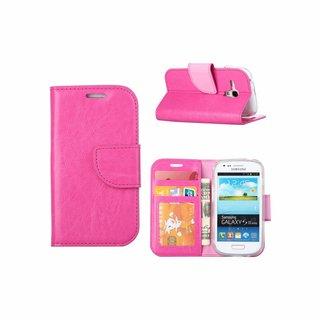 Luxe Lederen Bookcase hoesje voor de Samsung Galaxy S3 Mini - Roze