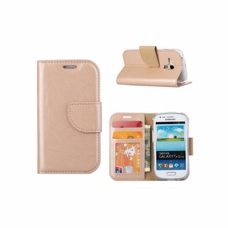 Bookcase Samsung Galaxy S3 Mini hoesje - Goud
