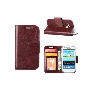 Bookcase Samsung Galaxy S3 Mini hoesje - Bruin