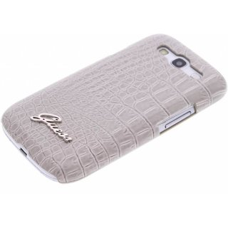 Originele Crocodile Back Cover hoesje voor de Samsung Galaxy S3 - Beige
