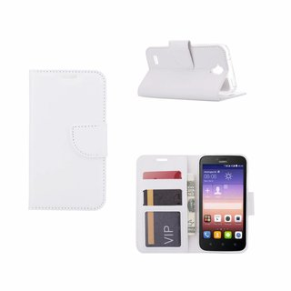 Bookcase Huawei Ascend Y560 hoesje - Wit