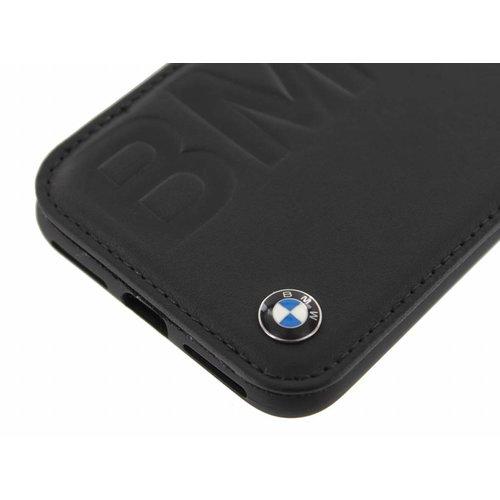 BMW Originele Debossed Logo Folio Bookcase voor de Apple iPhone X / XS - Zwart