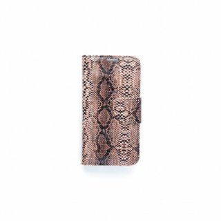Slangenprint Lederen Bookcase hoesje - Zwart voor de Samsung Galaxy S6