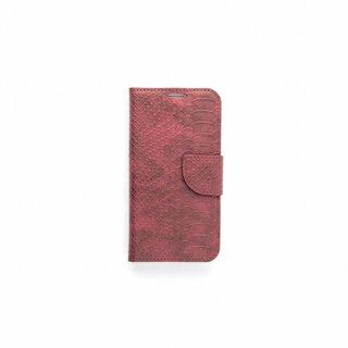 Schubben design Lederen Bookcase hoesje - Bordeauxrood voor de Samsung Galaxy S6