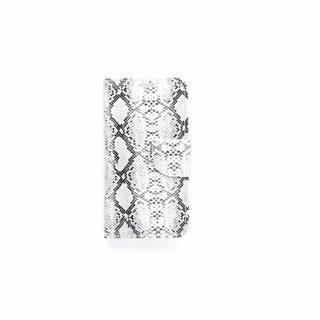 Slangenprint Lederen Bookcase hoesje - Wit voor de Samsung Galaxy S6 Edge