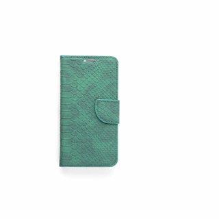 Schubben design Lederen Bookcase hoesje - Smaragdgroen voor de Samsung Galaxy S6 Edge Plus