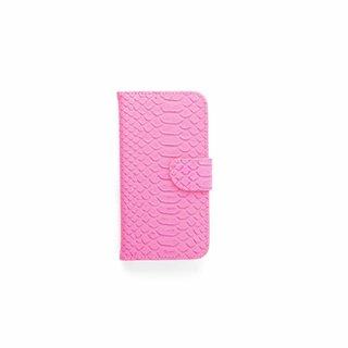 Schubben design Lederen Bookcase hoesje - Roze voor de Samsung Galaxy S7