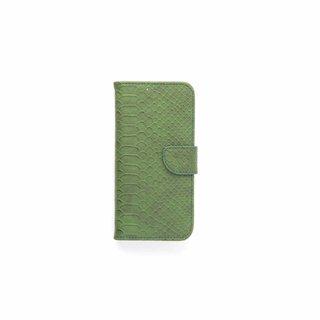 Schubben design Lederen Bookcase hoesje - Smaragdgroen voor de Samsung Galaxy S7 Edge