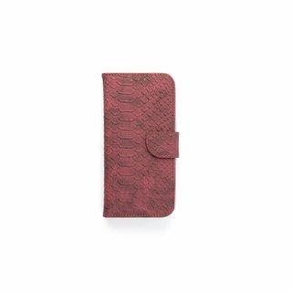 Schubben design Lederen Bookcase hoesje - Bordeauxrood voor de Samsung Galaxy S7 Edge