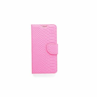 Schubben design Lederen Bookcase hoesje - Roze voor de Samsung Galaxy S6 Edge Plus