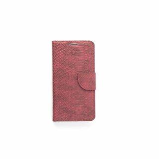 Schubben design Lederen Bookcase hoesje - Bordeauxrood voor de Samsung Galaxy S6 Edge Plus
