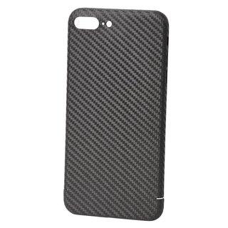 Originele Carbon Back Cover Hoesje voor de Apple iPhone 7 Plus - Zwart