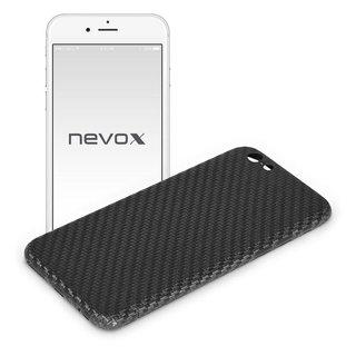 Originele Carbon Back Cover Hoesje voor de Apple iPhone 7 - Zwart