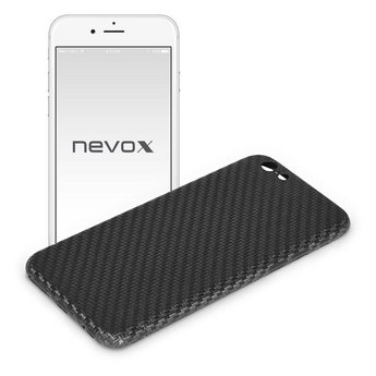 Nevox Originele Carbon Back Cover Hoesje voor de Apple iPhone 7 - Zwart