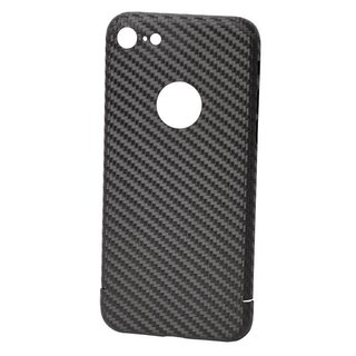 Originele Carbon Back Cover Hoesje voor de Apple iPhone 8 - Zwart