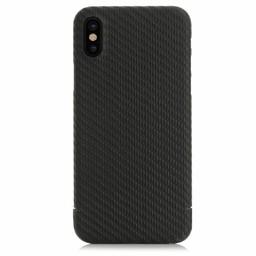Nevox Originele Carbon Back Cover Hoesje voor de Apple iPhone X  / XS - Zwart