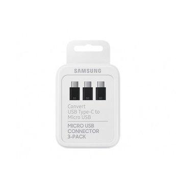 Samsung Originele Micro-USB naar Type-C Adapter 3-Pack - Zwart