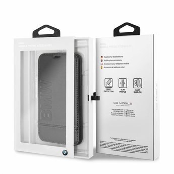 BMW Originele Signature Debossed Logo Folio Bookcase voor de iPhone 6 / 6S / 7 / 8 - Zwart