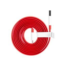 OnePlus 3 / 3T / 5 / 5T Originele Type-C Dash data + oplaadkabel 1,5 Meter - Rood