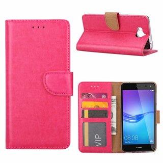 Bookcase Huawei Y6 2017 hoesje - Roze
