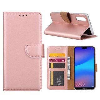 Bookcase Huawei P20 hoesje - Rosé Goud