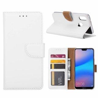 Bookcase Huawei P20 Lite hoesje - Wit