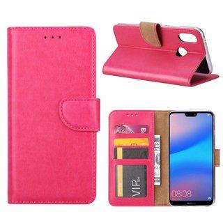 Bookcase Huawei P20 Lite hoesje - Roze
