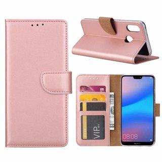 Bookcase Huawei P20 Lite hoesje - Rosé Goud