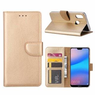 Bookcase Huawei P20 Lite hoesje - Goud