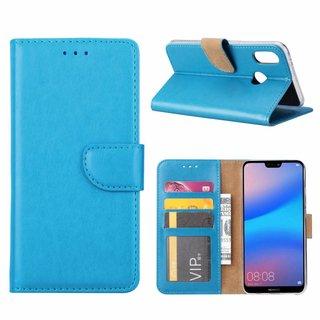 Bookcase Huawei P20 Lite hoesje - Blauw
