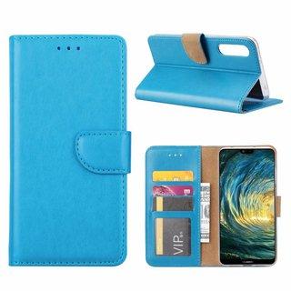 Luxe Lederen Bookcase hoesje voor de Huawei P20 Pro - Blauw