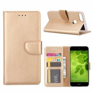 Bookcase Huawei P Smart hoesje - Goud