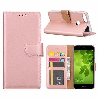 Bookcase Huawei P Smart hoesje - Rosé Goud