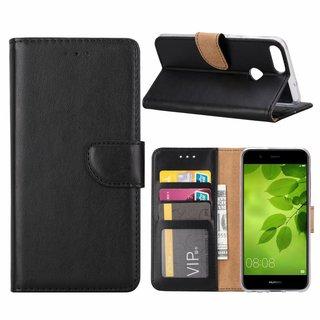 Bookcase Huawei P Smart hoesje - Zwart