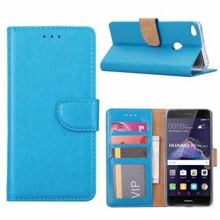 Luxe Lederen Bookcase hoesje voor de Huawei P8 Lite 2017 - Blauw