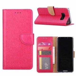 Luxe Lederen Bookcase hoesje voor de Samsung Galaxy S8 - Roze