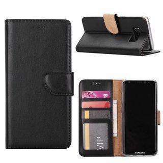 Luxe Lederen Bookcase hoesje voor de Samsung Galaxy S8 - Zwart