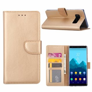 Bookcase Samsung Galaxy Note 8 hoesje - Goud