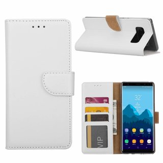 Bookcase Samsung Galaxy Note 8 hoesje - Wit